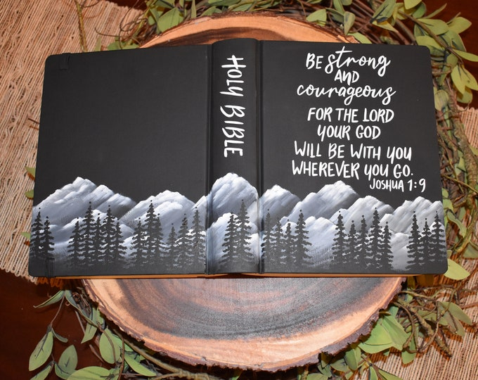 Custom Hand Painted Bible | Grooms Gift Idea | Baptism Gift | Graduation Gift | Man Gift | Personalized Keepsake