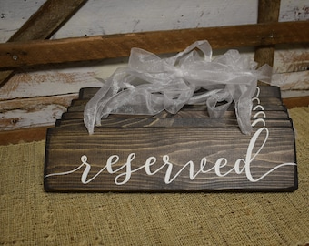 Reserved Wedding Signs  | Wedding Ceremony Signs | Wedding Details | Hand Painted