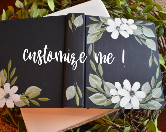 Hand Painted Bible | Proposal Gift Idea | Wedding Guestbook Alternative | Baptism | Anniversary Gift | Mother's Gift | Personalized Keepsake
