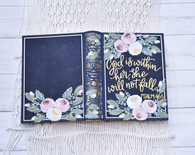 Hand Painted Bible // Illuminated ESV Bible // Hand Painted  // Personalized Keepsake