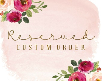 Reserved Complete Custom Order for Suzanne