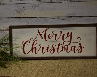 Merry Christmas | Wood Sign | Holiday Decor | Home Decor | Hand Painted