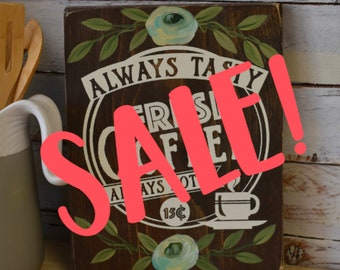Coffee Sign | SALE | Wood Sign | Coffee Bar Decor | Hand Painted | Kitchen Decor