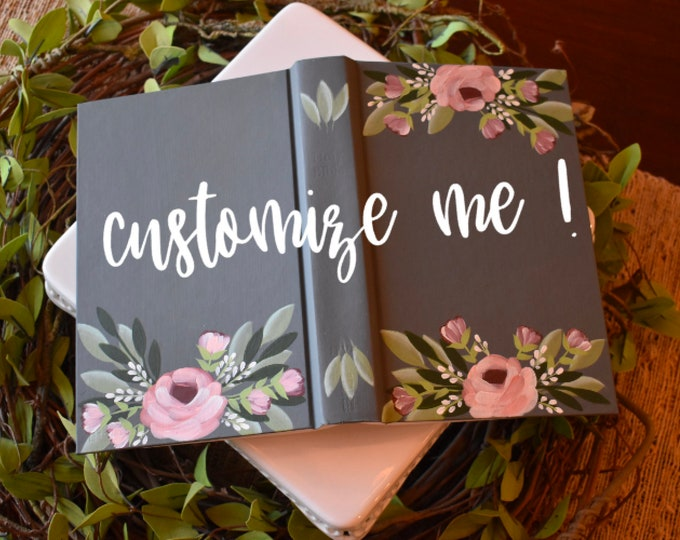 Custom Hand Painted Bible | Bridal Gift | Guest Book Alternative | Personalized Keepsake