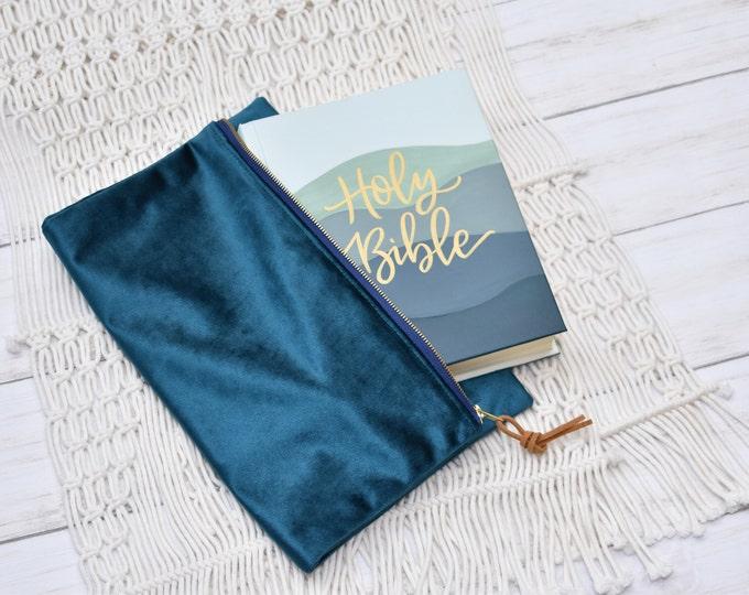 Hand Painted Bible, 5 Layer Landscape, Baptism Bible, Personalized Keepsake