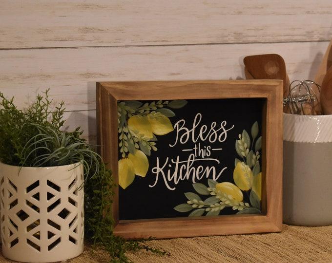 Home Decor | Hand Painted Canvas Art | Kitchen Decor | Lemons