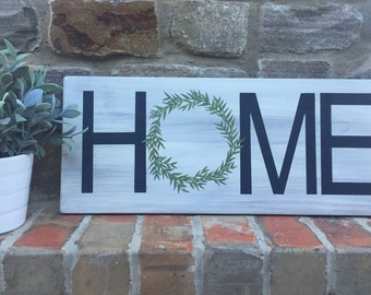 Home Sign | Farmhouse Decor | Hand Painted