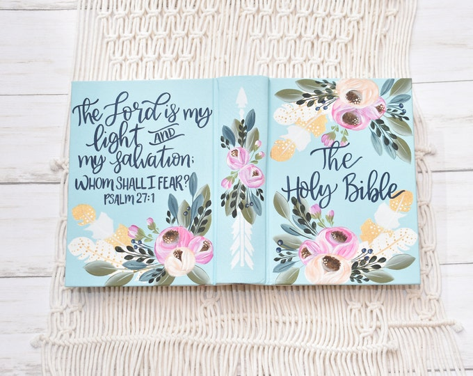 Hand Painted Bible  // Speciality Floral Design  // Boho Floral Design // Personalized Keepsake