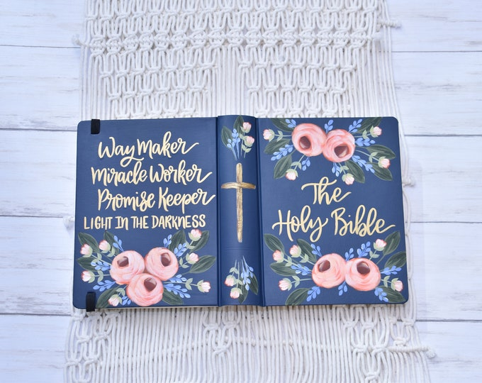 Hand Painted Bible // Way Maker // Custom Bible // Holy Bible // Personal Keepsake