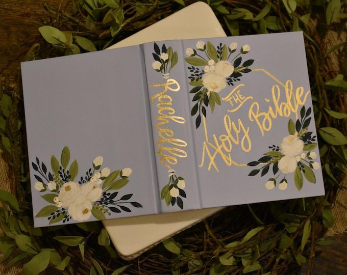 Custom Hand Painted Bible | Holy Bible | Personalized Bible Keepsake