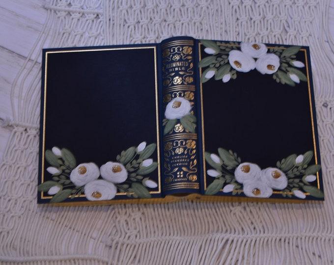 Hand Painted Bible // Illuminated ESV Bible // Personalized Keepsake