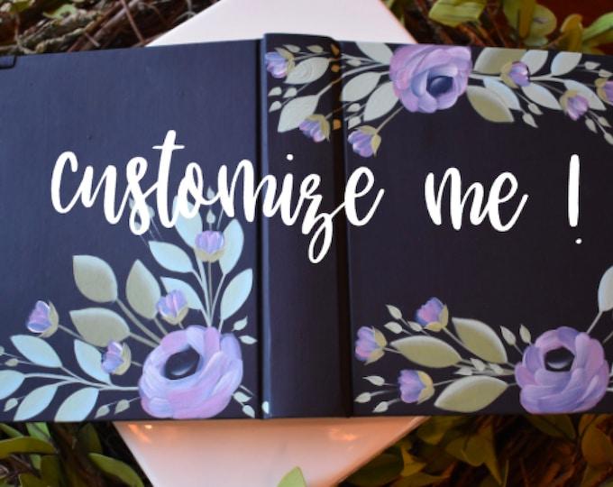 Custom Hand Painted Bible | Baptism Gift | Wedding Guest Book Alternative | Personalized Keepsake