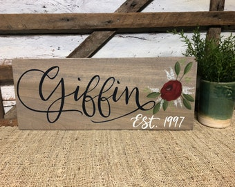 Custom Name Sign | Personalized | Gift Item | Hand Painted