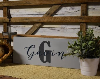 Custom Name Sign | Last Name Sign | Boys Room | Nursery Decor | Home Decor | Gift Item | Hand Painted