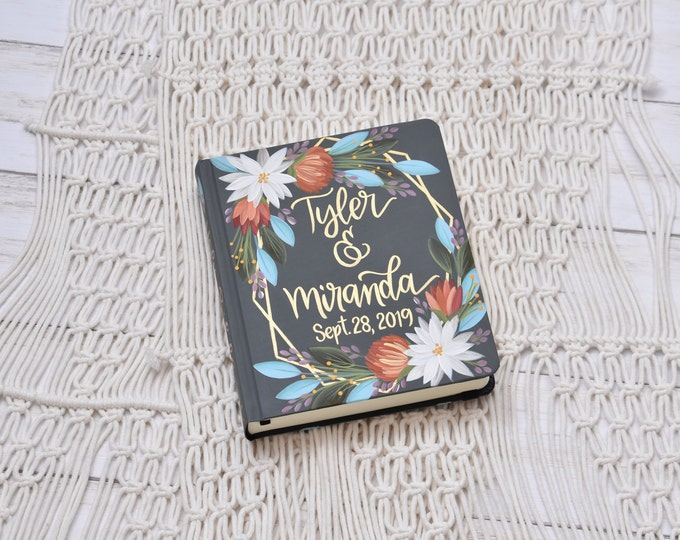 Hand Painted Bibles // Specialized Floral Design // Personalized Keepsake