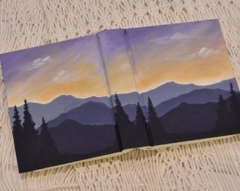 Hand Painted Bible // Landscape Bible // Sunset // Personalized Keepsake