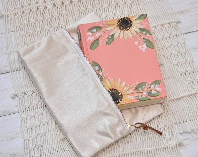 Hand Painted Bible, Quick Ship, Holy Bible, Girls Bible, Sunflowers, Personalized Keepsake