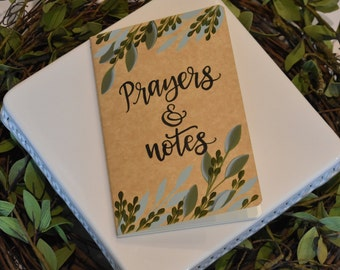 Prayer Journal // Writing Journal // Hand Painted Journal// Notebook
