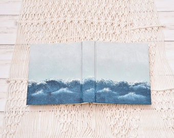Hand Painted Bible // Ocean Waves // Personalized Keepsake