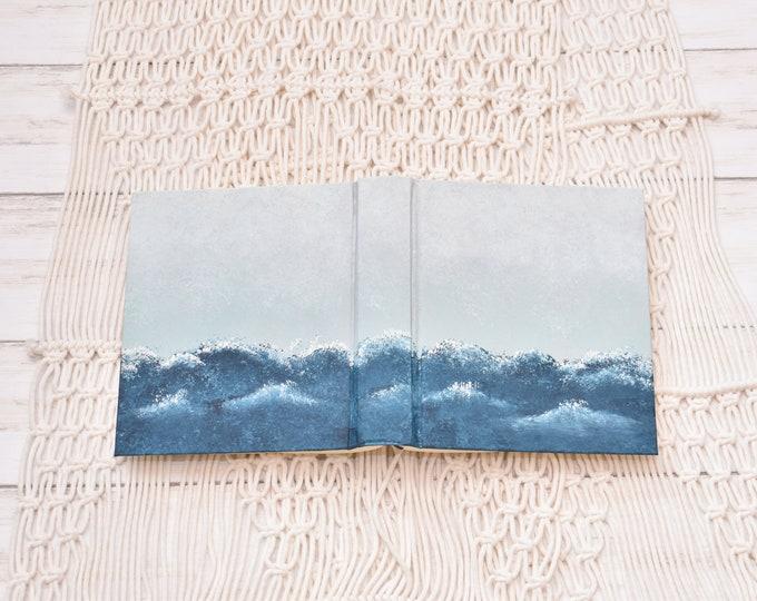Hand Painted Bible // Ocean Waves // Personalized Keepsake