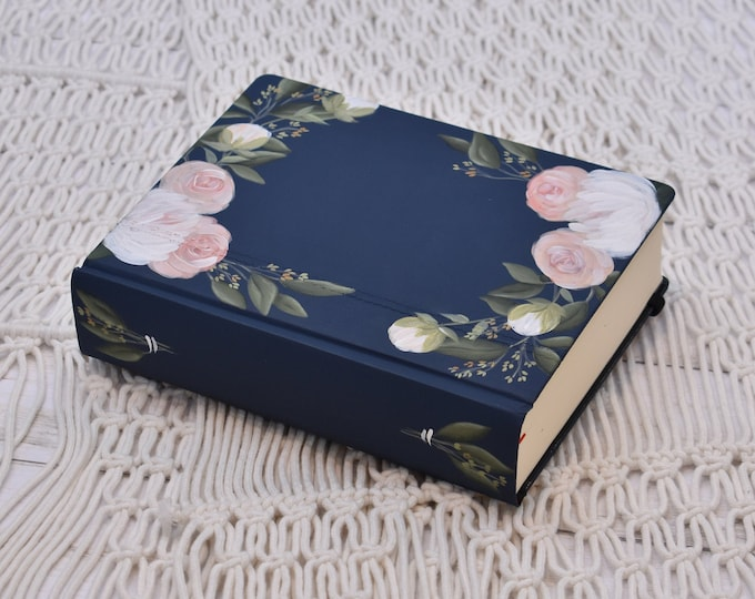 Hand Painted Bible // Specialized Floral Design // Peony Florals // Personal Keepsake