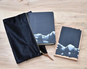Hand Painted Bible, Landscape Design, Bible Bundle, Customized Keepsake