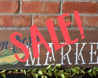 Farm Fresh Market Sign | Farmhouse Kitchen Decor | Rustic |Wall Sign |Hand Painted | Kitchen Decor