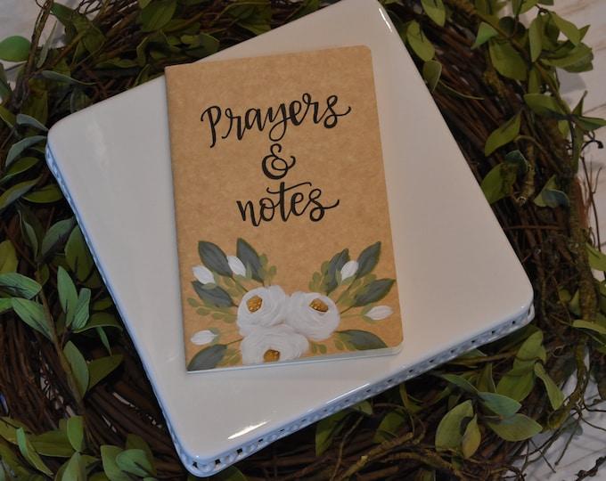 Prayer Journal // Writing Journal // Hand Painted Journal// Notebook