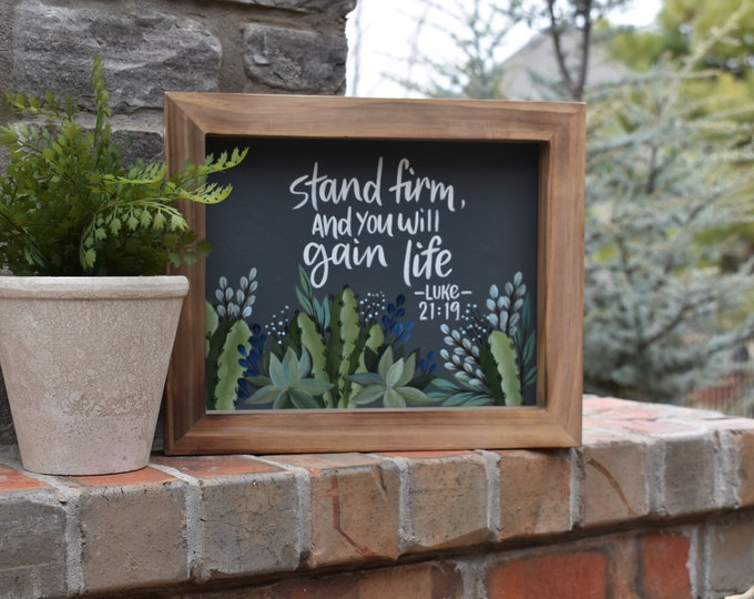 Home Decor | Cactus and Succulents | Hand Painted Canvas Art | Inspirational Decor