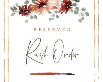 Reserved Rush Order for Katherine