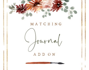 Hand Painted Customizable Matching Journal