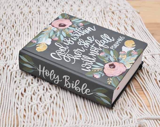 Hand Painted Bibles // Graduation // Baptism // Holy Bible // Personalized Keepsake