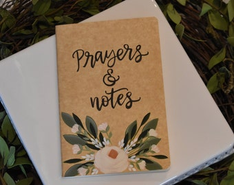 Prayer Journal // Writing Journal // Hand Painted Journal