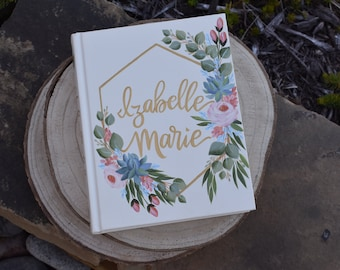 Hand Painted Bible // Specialized Floral Design // Succulents and Roses // Personal Keepsake