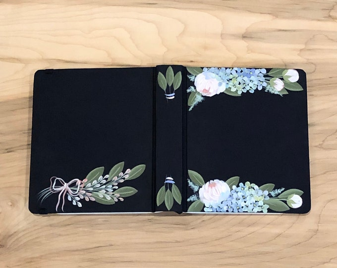 Hand Painted Bible // Specialized Floral Design // Peony and Hydrangea Florals // Personal Keepsake