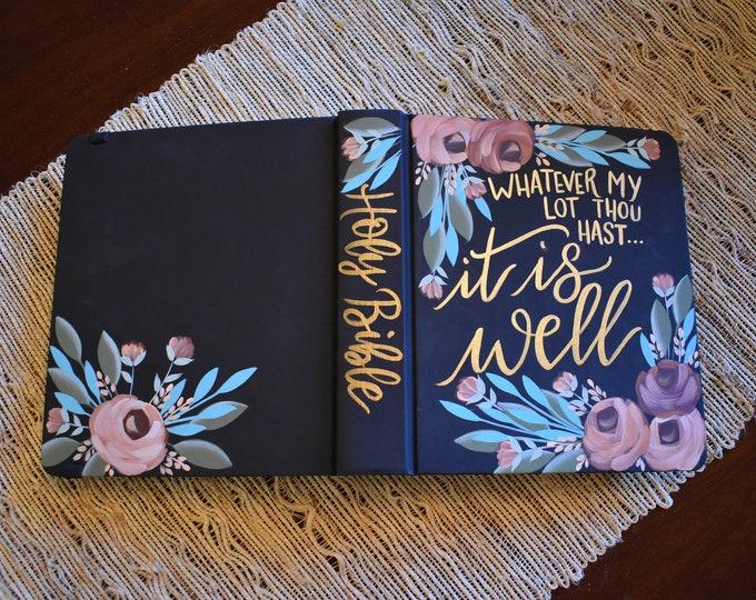 Custom Hand Painted Bible | Personalized Bible Keepsake