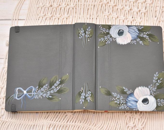 Hand Painted Bible // Wedding Guest Book Alternative // Personal Keepsake