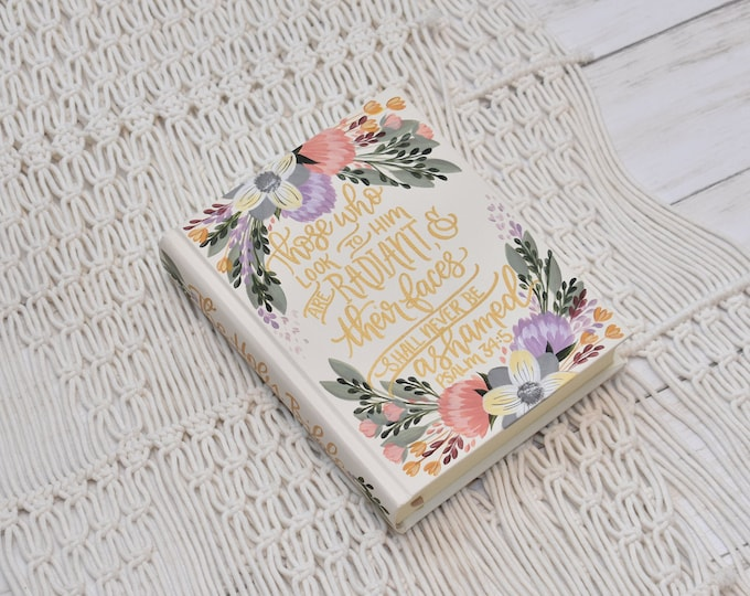 Hand Painted Bible, Specialized Floral Design, Girl's Bible, Custom Personal Keepsake