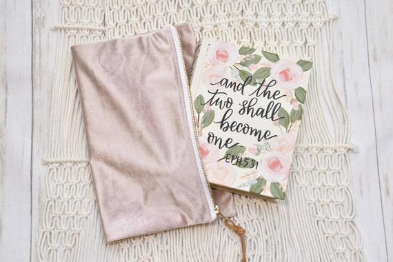 Hand Painted Bible, Quick Ship, Pink Roses, Wedding Bible, Personalized Keepsake