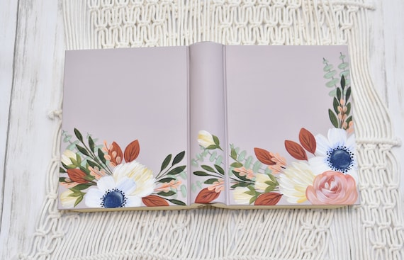 Hand Painted Bible, Quick Ship, Specialized Floral Design, Personal Keepsake