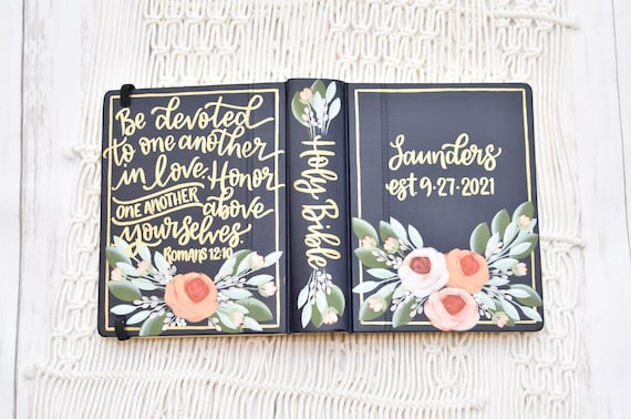 Hand Painted Bible,  Holy Bible, Personalized Keepsake