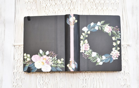 Hand Painted Bible, Specialized Floral Design, Roses and Hydrangeas, Custom Bible, Personal Keepsake