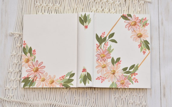Hand Painted Bible, Pink Daisies, Holy Bible, Personalized Keepsake