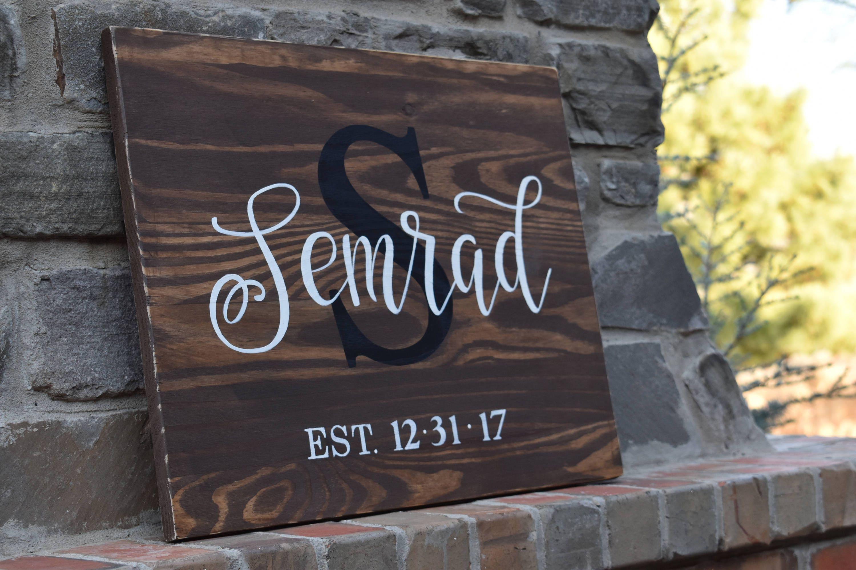 Last Name Sign Custom Sign Personalized Farmhouse Decor