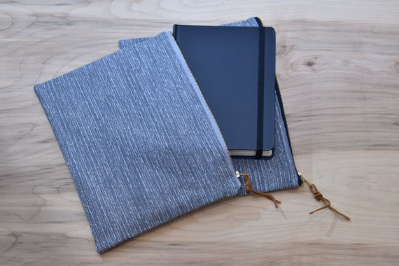 Bible Bag, Gray Tweed, Zipper Pouch Bag