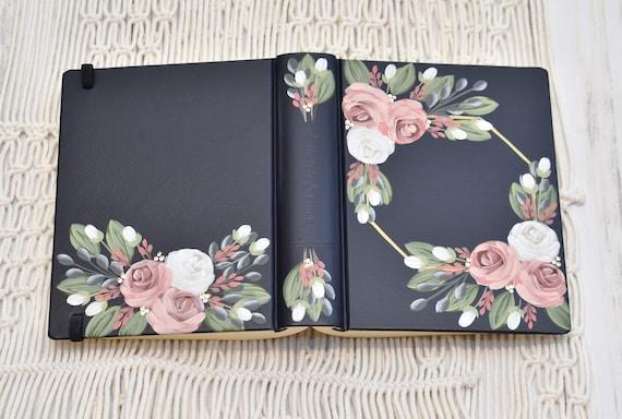 Hand Painted Bible, Pink Roses,  Wedding Bible, Custom Personalized Keepsake
