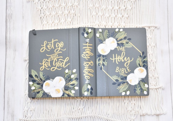 Hand Painted Bible, Wedding Bible, Custom Personalized Keepsake