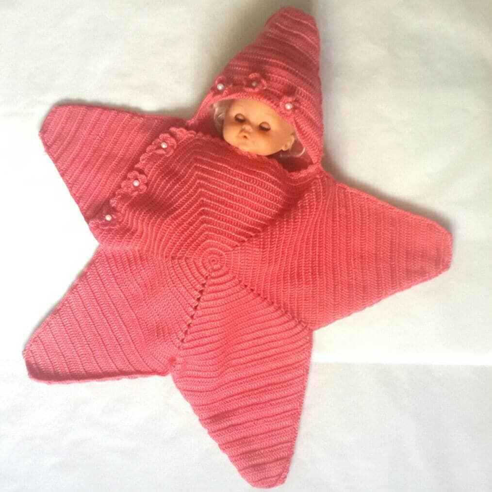 Newborn Blanket Baby Starfish Blanket Cotton Crochet Etsy