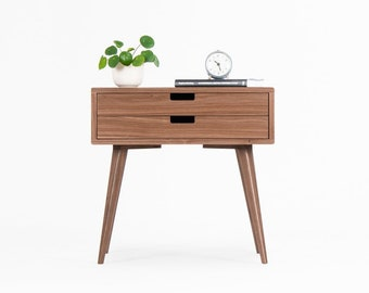 Bedside table, side table, nightstand, mid century night stand, midcentury modern, bedside table