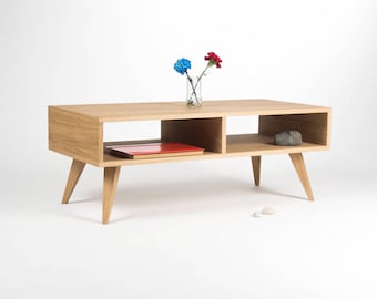 Tv stand, media console, entertainment center, tv cabinet, mid century modern, made of oak wood